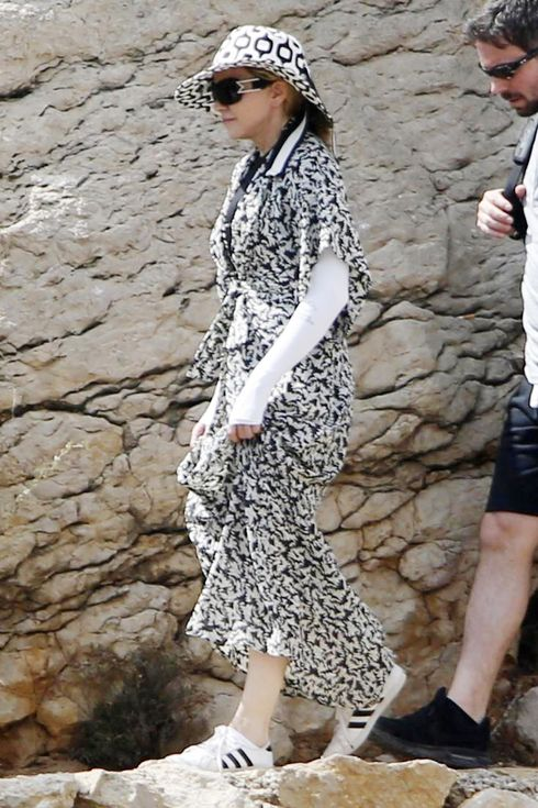 IBIZA, SPAIN - AUGUST 19:  Madonna is seen on August 19, 2014 in Ibiza, Spain.  (Photo by Europa Press/Europa Press via Getty Images)