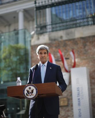 Secretary of State John Kerry in Vienna on Sunday.