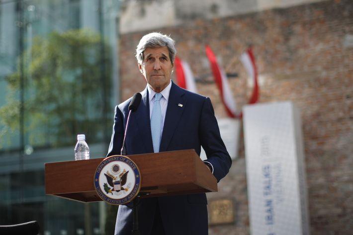 Secretary of State John Kerry in Vienna on Sunday.