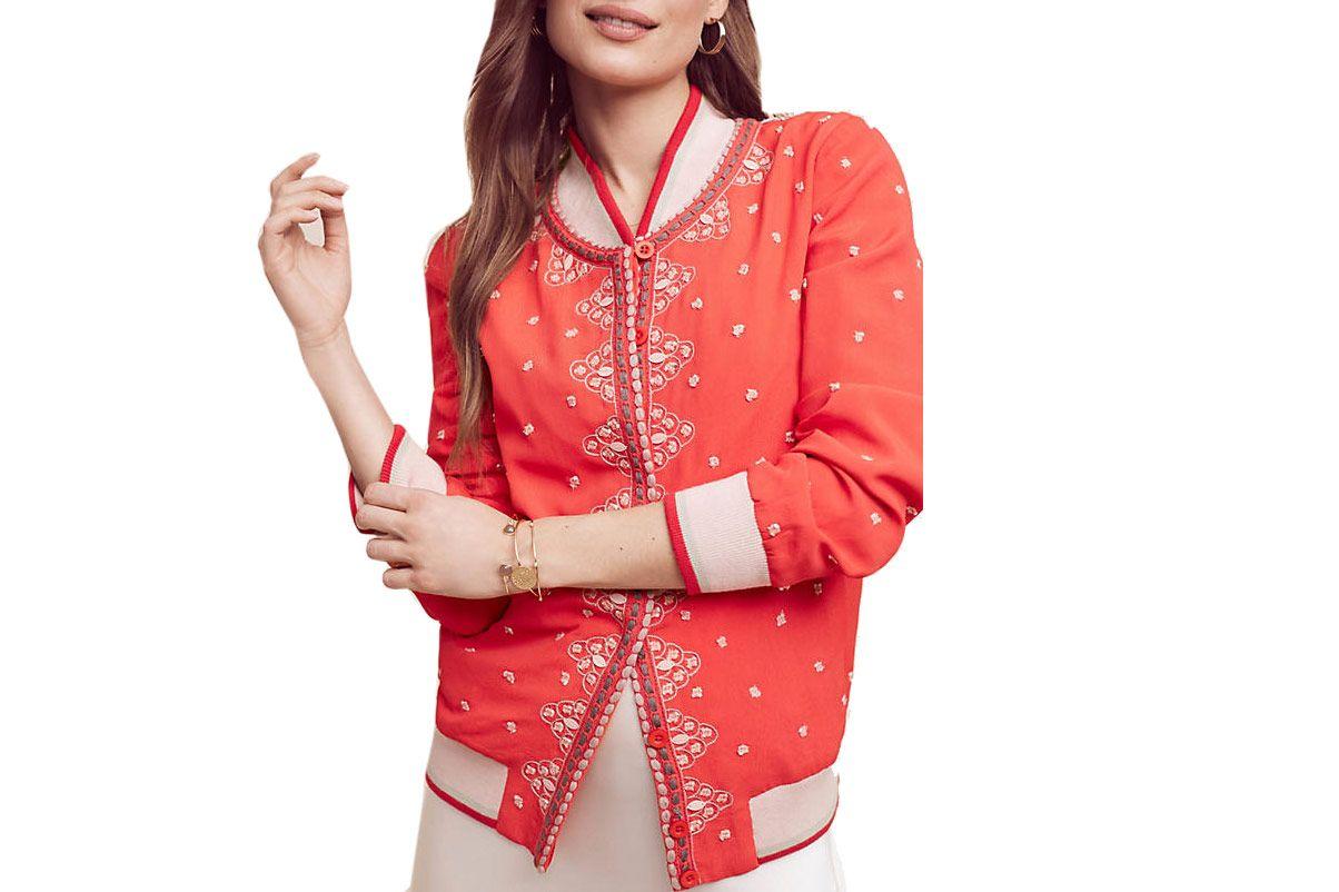 Arabella Embroidered Bomber Jacket