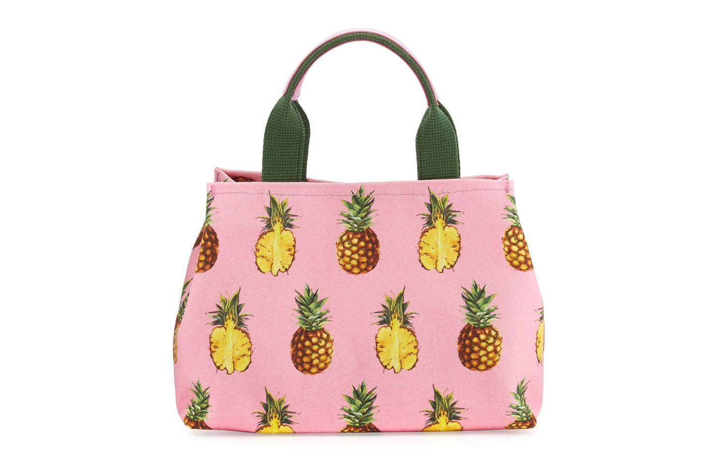 Dolce & Gabbana Pineapple-Print Canvas Tote Bag