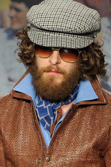 "<b>Best matching beard/outfit coordination.</b>   <a href=""http://nymag.com/fashion/fashionshows/2012/fall/main/europe/menrunway/trussardi/"">See the complete fall 2012 Trussardi 1911 Menswear collection</a>."