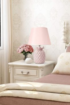 Petrala Ceramic Pink Pineapple Table Lamp