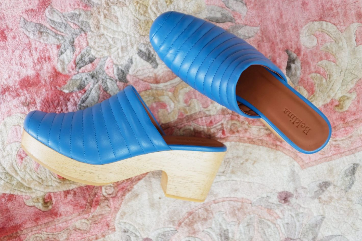"Beklina Ribbed Lego Clog in ""Denim"""