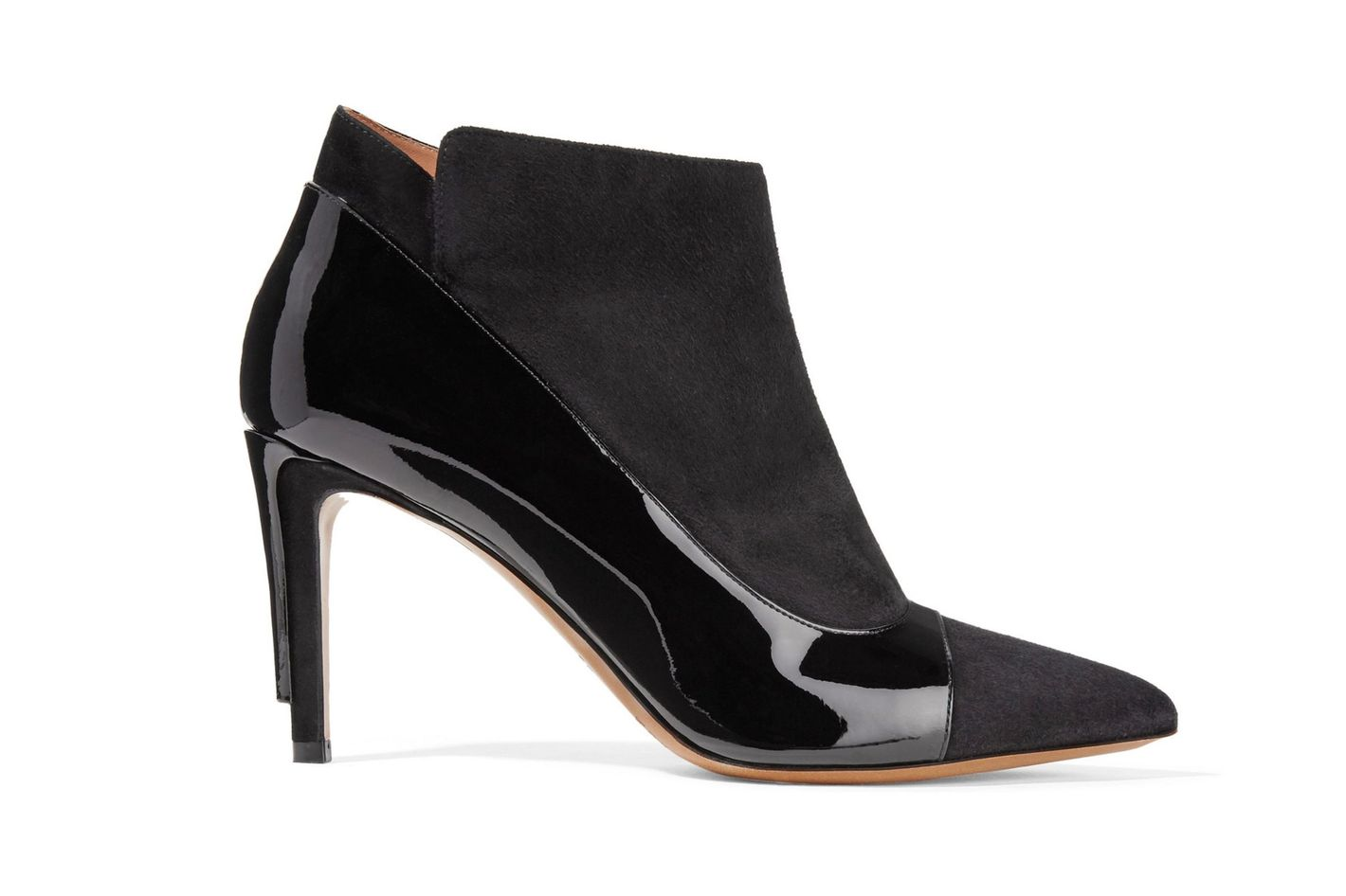 Maison Margiela patent-leather-trimmed suede ankle boots
