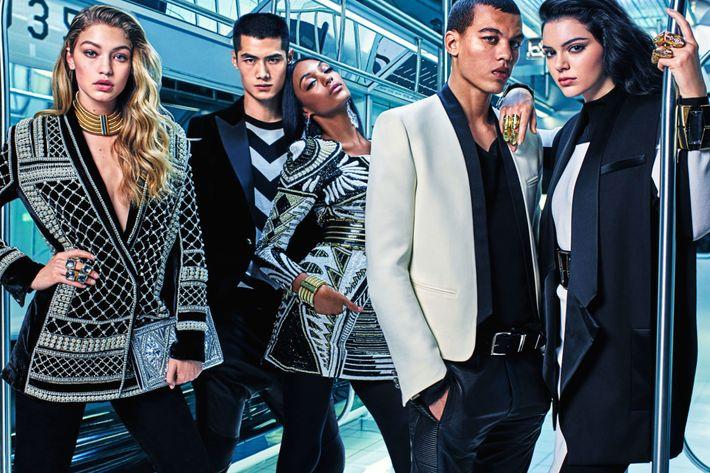 The new Balmain x H&M campaign.