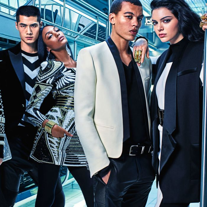 The new Balmain x H&M campaign.