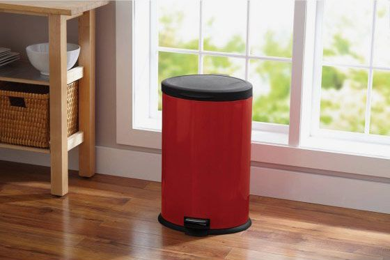 Better Homes & Garden 10.5 Gallon Oval Red Waste Can
