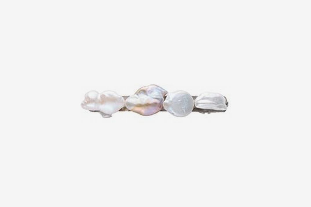 Donni Large Mixed Pearl Barrette
