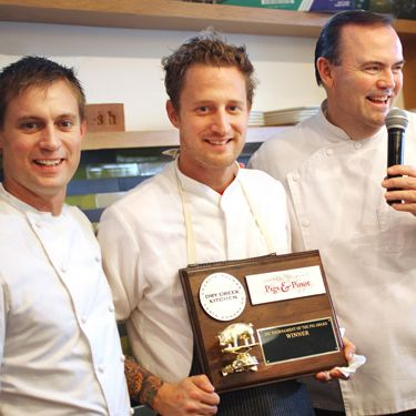 The Voltaggio Brothers with Palmer at last year's event.