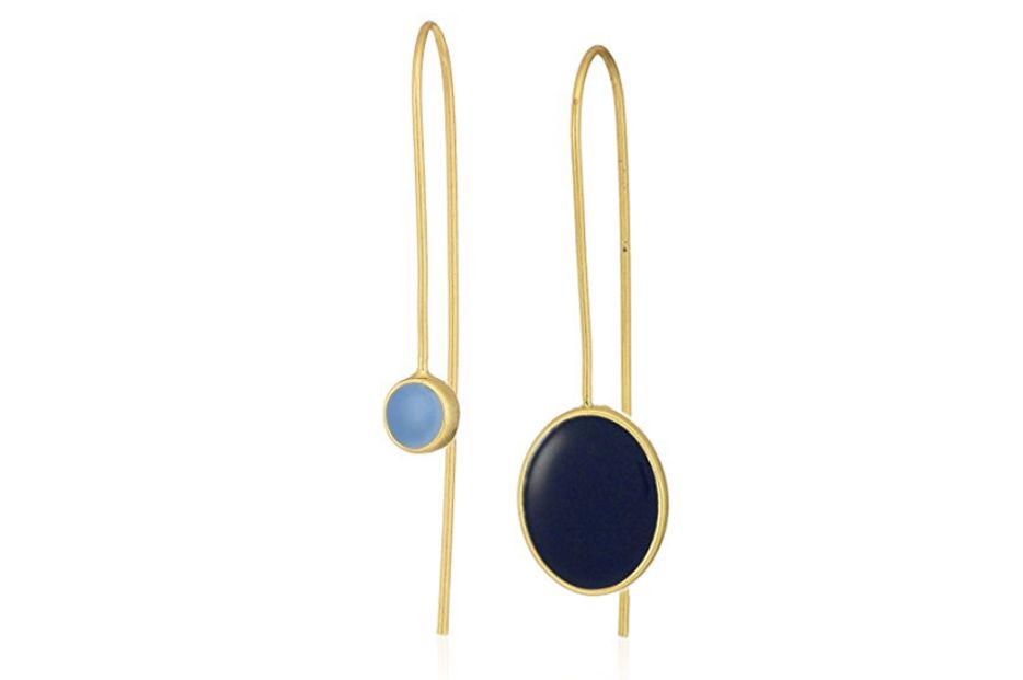 Dear Drew by Drew Barrymore Nolita Mismatch Enamel Drop Earrings