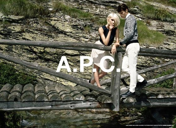 <b>Models:</b> Aline Weber and Adrien Sahores  <b>Photographer:</b> Walter Pfeiffer