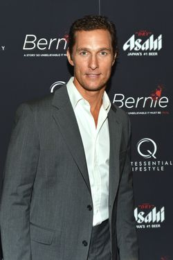 "NEW YORK, NY - APRIL 23:  Actor Matthew McConaughey attends the ""Bernie"" New York Premiere at AMC Loews 19th Street East 6 theater on April 23, 2012 in New York City.  (Photo by Slaven Vlasic/Getty Images)"