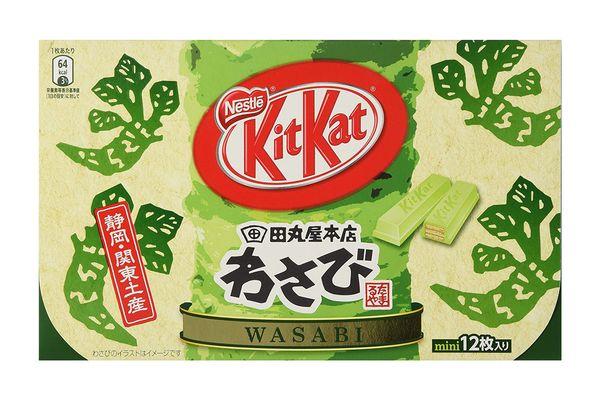 Japanese Kit Kat — Wasabi Chocolate Box, 6 Mini Packs