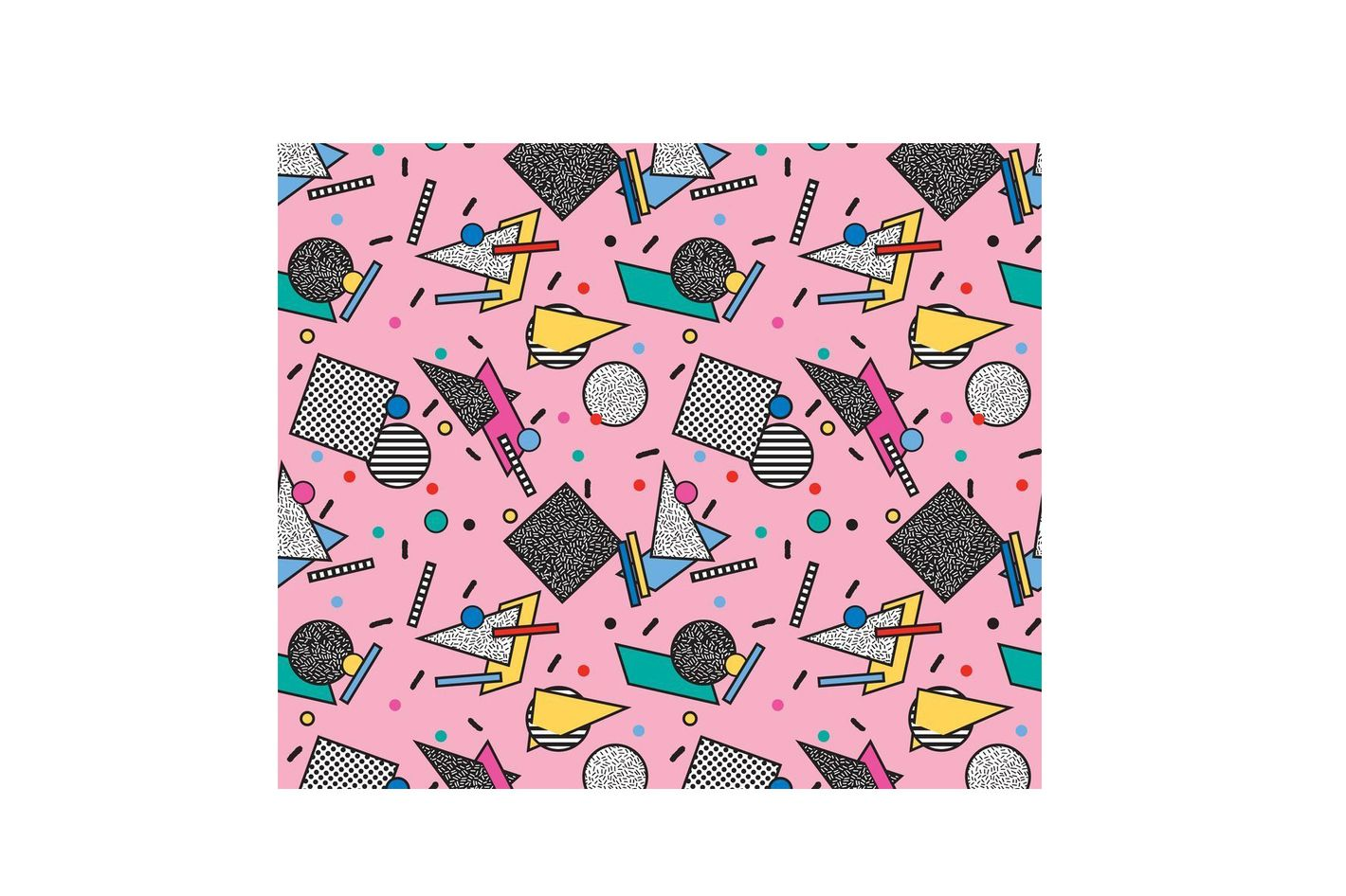 Memphis-Inspired Fabric With Spoonflower