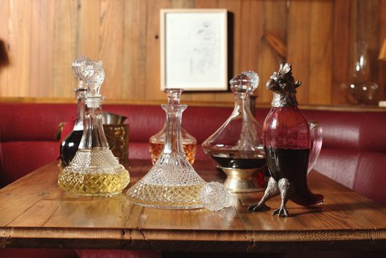 Dirty French's decanters.