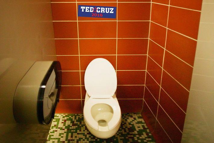 Ted Cruz Campaign Now Canvassing Public Bathroom Stalls - Bathroom stals