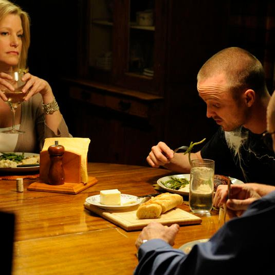 Skyler White (Anna Gunn), Jesse Pinkman (Aaron Paul) and Walter White (Bryan Cranston) in Episode 6.