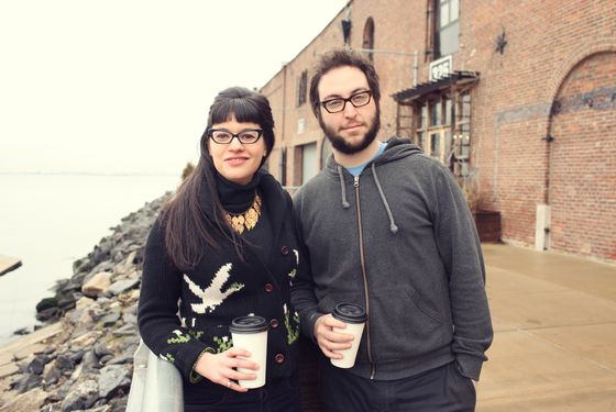 Bernamoff and Cohen, outside their new Red Hook kitchen.