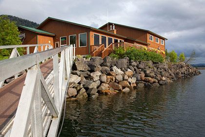 "<b>The Destination:</b> <a href=""http://www.sheltercovelodge.com/"">Shelter Cove Lodge</a>, in Craig  <b>How to Get There:</b> A short flight from Seattle to Ketchikan, Alaska, followed by a quick float-plane ride from Ketchikan to Craig. <a href=""http://www.royaljourneys.com/destinations/lodges/shelter-cove-lodge.html"">This company</a> offers package deals.  <b>When to Go:</b> It's open May through September for four-night stays.     This sport-fishing lodge is located in one of the southernmost coastal towns in Alaska, on the west coast of Prince of Wales Island, within view of breaching whales and plenty of eagles nesting in the Tongass National Forest. For several years they have been flying in a chef from New York, Neil Massaro, for the summer season to prepare nightly dinners for their 39 guests which are, obviously, centered around amazing local seafood like king salmon, lingcod, and halibut. (See <a href=""http://www.roadfood.com/Restaurant/Review/7631-8694/shelter-cove"">a couple of example dishes here</a>.) Massaro allows guests to craft their own menus in addition to choosing from ten nightly dishes, and by all accounts the place is a haven of great cooking in what might otherwise be a culinary desert. You probably want to bring along someone who enjoys fishing, however.    <i>Shelter Cove Lodge, 703 Hamilton Drive, Craig, AK; 907-826-2939</i>"