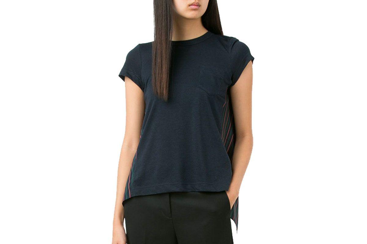 Sacai Pinstripe T-Shirt