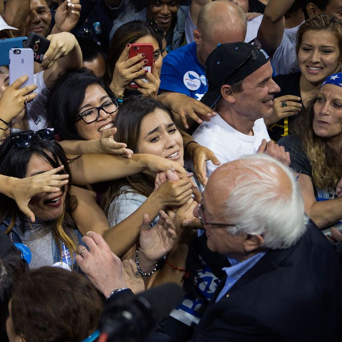 Democratic Candidate Bernie Sanders Holds Campaign Rally In Carson, California