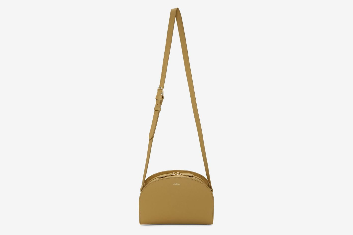 A.P.C. Tan Half-Moon Bag
