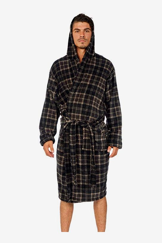 e38773b498 Best fleece bathrobes. Wanted Men s Hooded Plush Lounge Spa Robe
