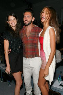 Model Jeisa Chiminazzo, Lorenzo Martone and model Irina Shayk.