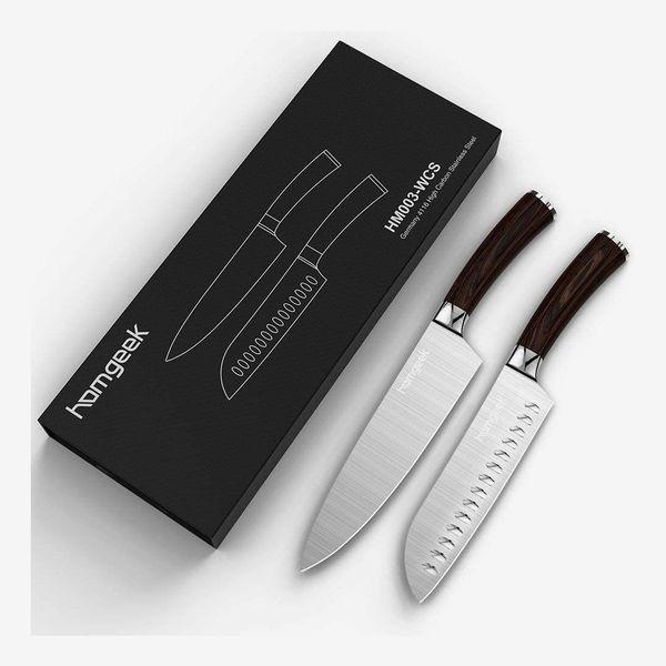 Homgeek Chef Knife and Santoku Knife Set