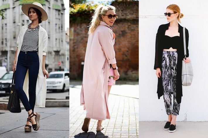 21 Ways to Wear a Long, Airy Jacket This Summer