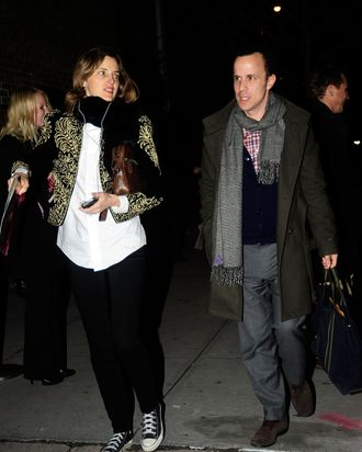 Guests are seen heading to the Proenza Schouler show on February 15, 2012 in New York City.