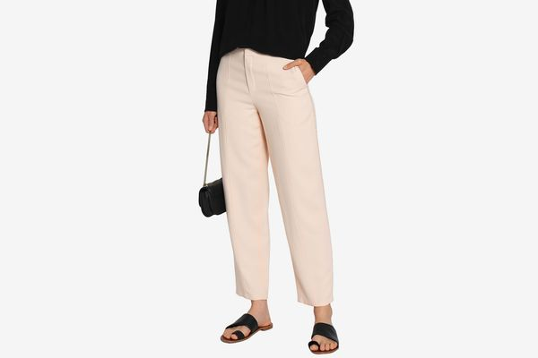 Chloé Pompom-Embellished Cady Tapered Pants