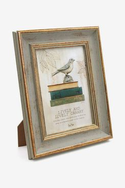 Afuly Antique Photo Frame in Gold and Vintage Green 7x5 - Made of Eco friendly Materials