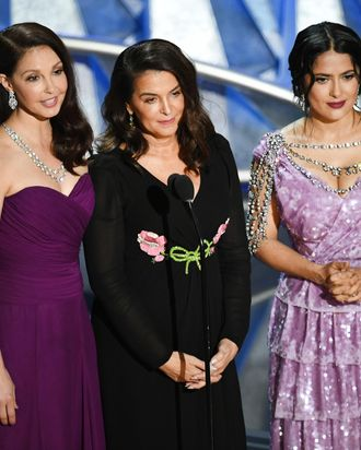 Ashley Judd, Annabella Sciorra, and Salma Hayek.