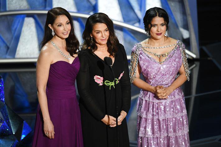 Ashley Judd, Annabella Sciorra, and Salma Hayek.