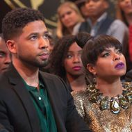 "EMPIRE: Pictured L-R: Jussie Smollett and Taraji P. Henson in the ""Time Shall Unfold"" episode of EMPIRE airing Wednesday, April 20 (9:00-10:00 PM ET/PT) on FOX. ©2016 Fox Broadcasting Co. CR: Chuck Hodes/FOX"