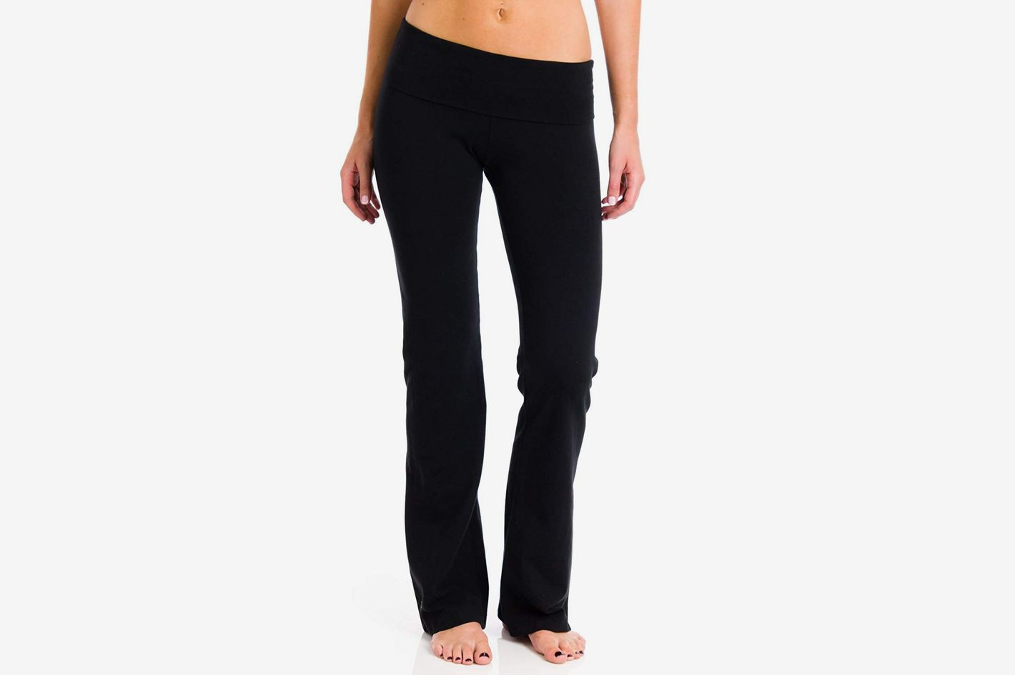 Hard Tail Roll-down Boot-Leg Yoga Pants