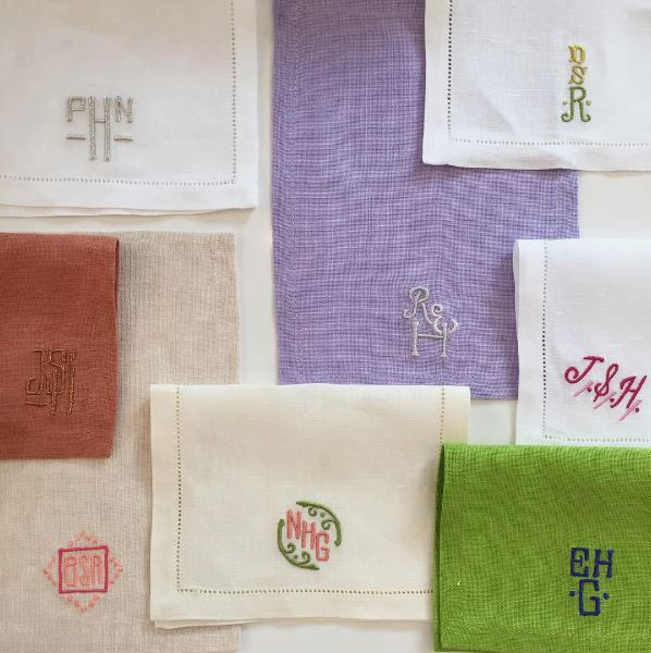 Leontine Linen Cocktail Napkins
