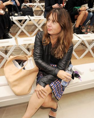 Alexandra Shulman attends at the Burberry Spring Summer 2012 Womenswear Show at Kensington Gardens on September 19, 2011 in London, England.