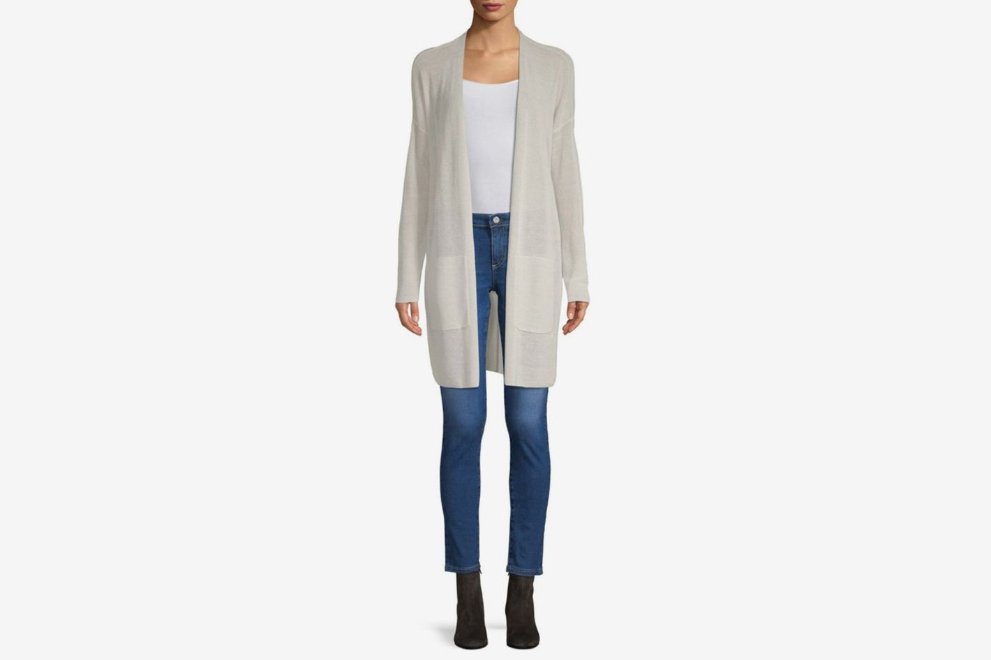 Eileen Fisher Crepe Long Cardigan