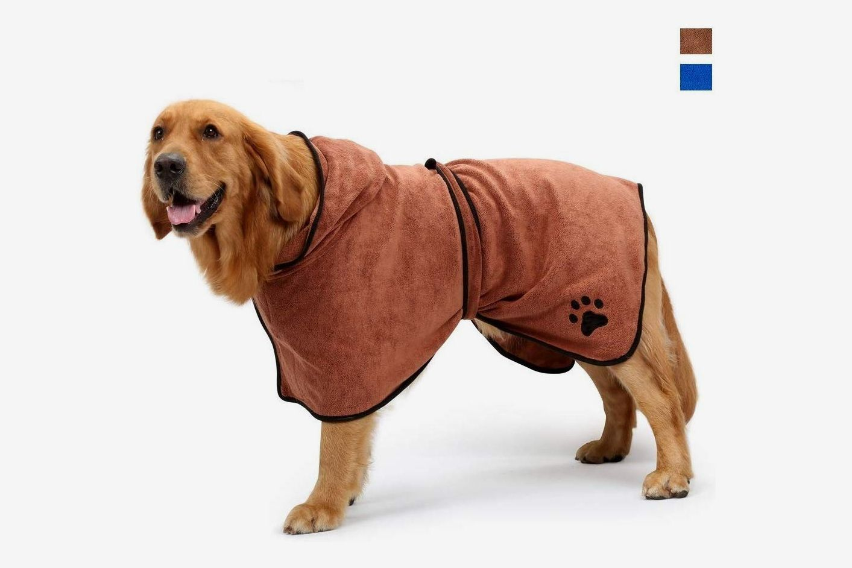 Aoweika Dog Bathrobe With Adjustable Strap
