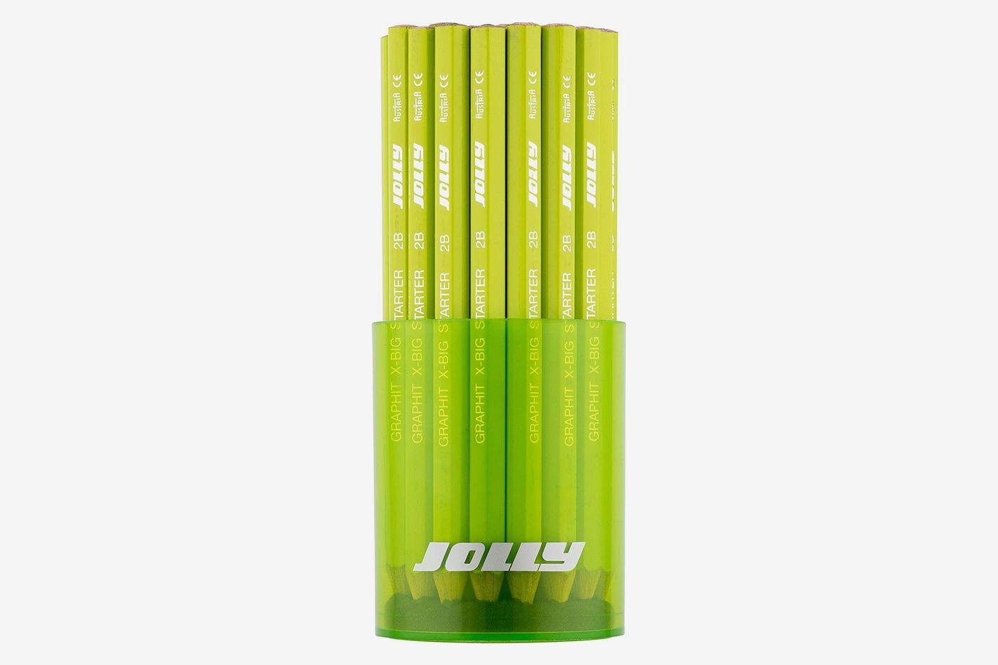 Jolly X-Big Jumbo-Sized 2B Graphite Pencils with Storage Tub