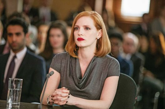 "M86 Jessica Chastain stars in EuropaCorp's ""Miss. Sloane"".Photo Credit: Kerry Hayes© 2016 EuropaCorp – France 2 Cinema"