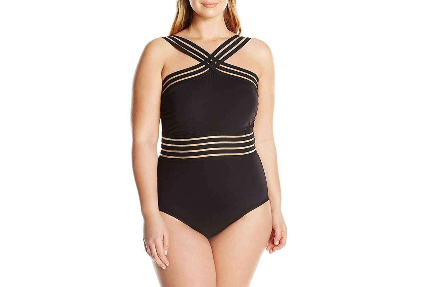 Kenneth Cole Reaction High Neck One Piece Swimsuit