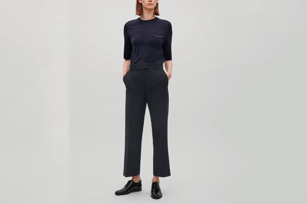 COS Cropped Flare-Leg Trousers