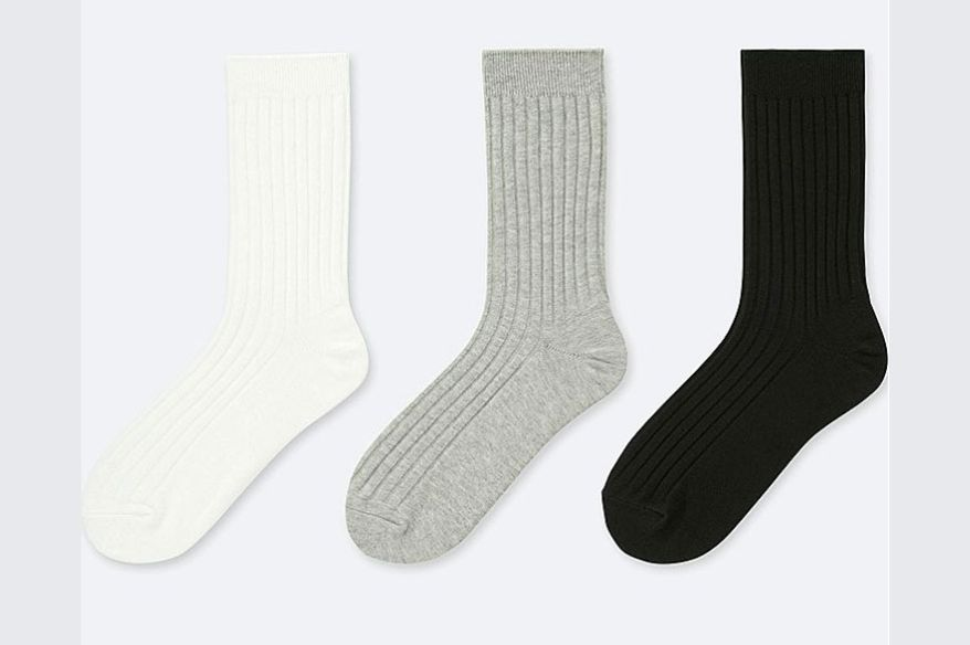 Womens Ribbed Socks (3 Pairs)
