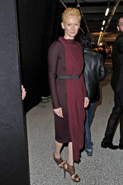 Tilda Swinton attends the Lanvin Ready-To-Wear Fall/Winter 2012 show
