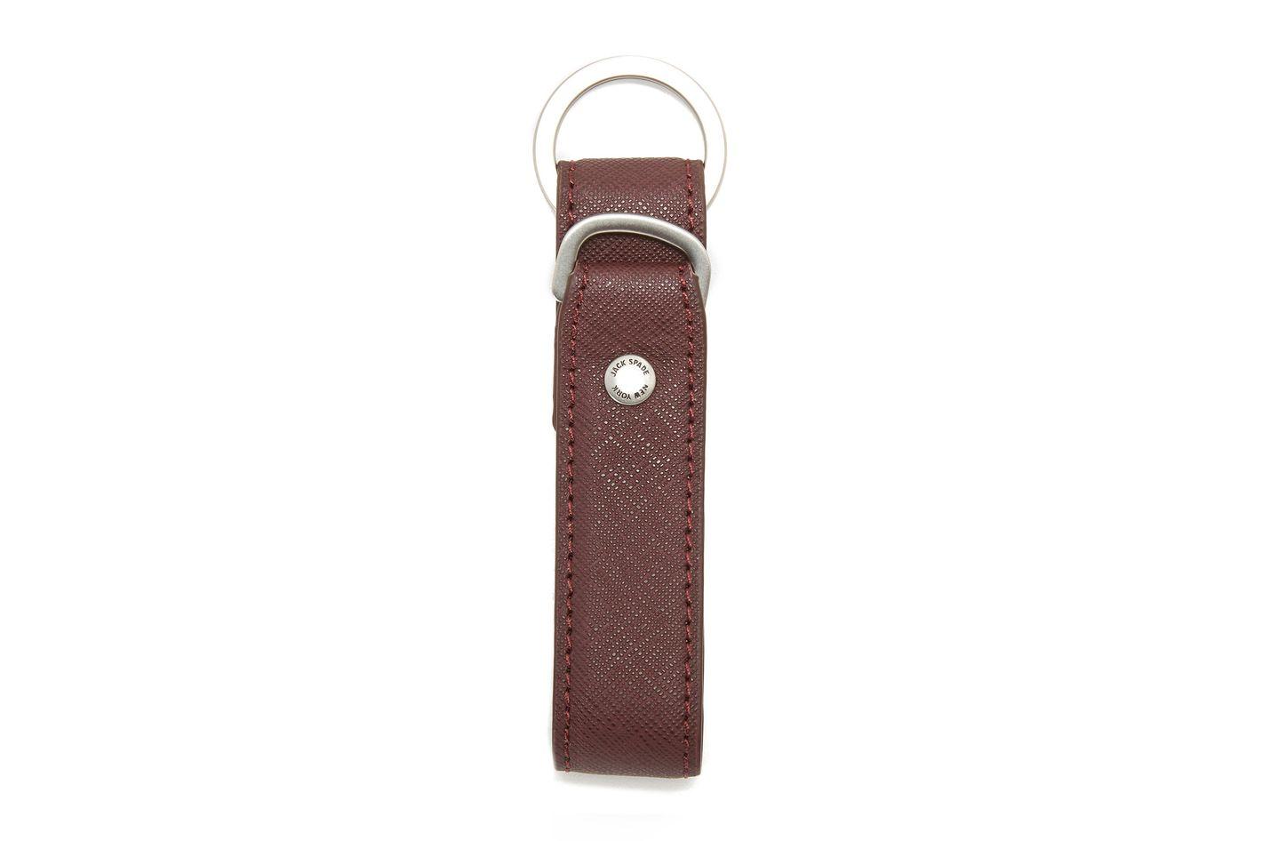 Jack Spade Barrow Leather Keyfob