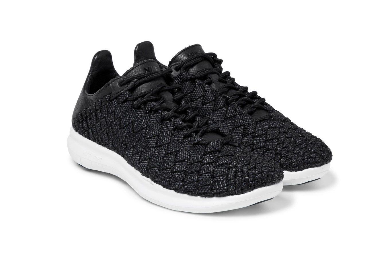 NikeLab Free Inneva Leather-Trimmed Mesh Sneakers